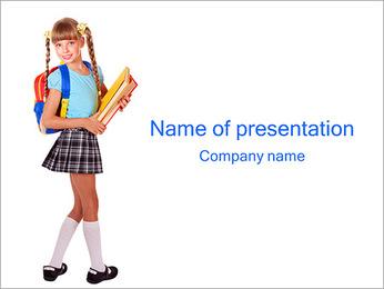 School Girl inteligente Plantillas de Presentaciones PowerPoint