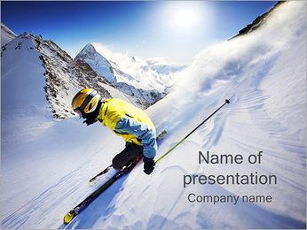 Ski Freestyle PowerPoint Template