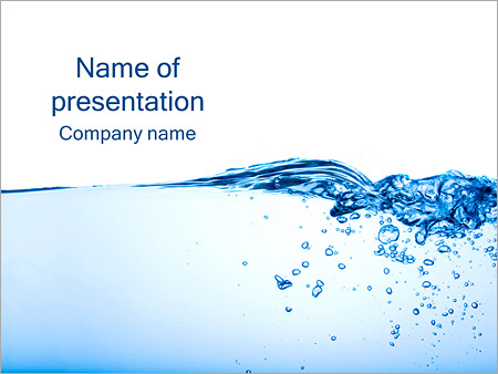 Water Image Powerpoint Template  Backgrounds Id