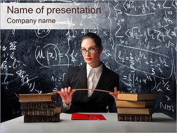 Strict Teacher Of Math PowerPoint Template