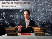 Strict Teacher Of Math PowerPoint Templates
