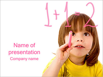 Boy Learns Math PowerPoint Template