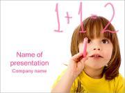 Boy Learns Math PowerPoint Templates