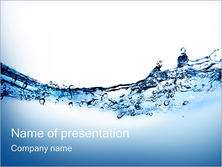 Pure Drinking Water Powerpoint Template & Backgrounds Id