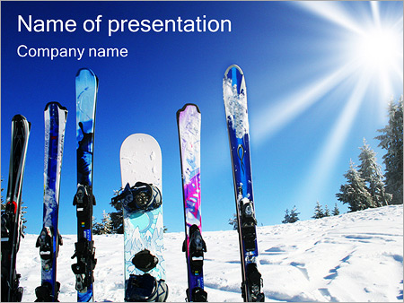 Winter Kinds Of Sport Powerpoint Template & Backgrounds Id
