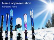 Winter Kinds Of Sport PowerPoint Templates