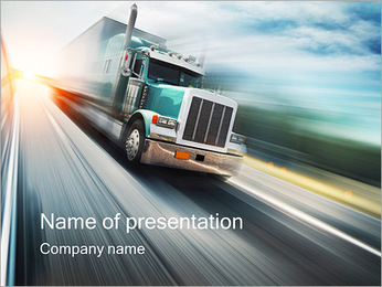 Driving Truck PowerPoint Template