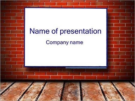 blackboard in the classroom powerpoint template & backgrounds id, Modern powerpoint