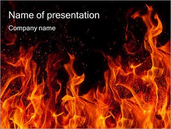 Huge Fire PowerPoint Template