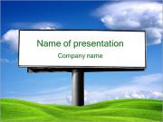 Big Board In The Field PowerPoint Templates