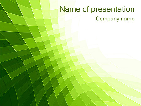 green abstraction design powerpoint template & backgrounds id, Powerpoint templates