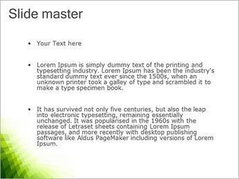 Vert Abstraction conception Modèles des présentations  PowerPoint - Diapositives 2