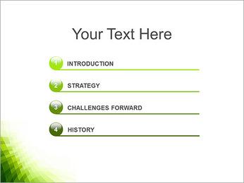 Vert Abstraction conception Modèles des présentations  PowerPoint - Diapositives 3