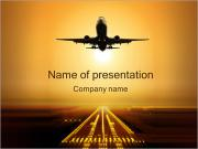 Plane Takes Off PowerPoint Template
