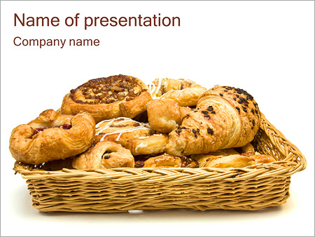 Pastry powerpoint template smiletemplates delicious bakery powerpoint templates toneelgroepblik Images