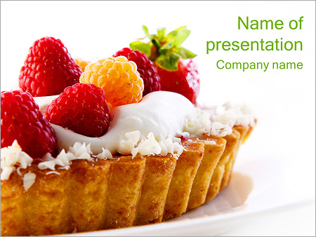 Pastry powerpoint template smiletemplates fruit cake powerpoint templates toneelgroepblik Images