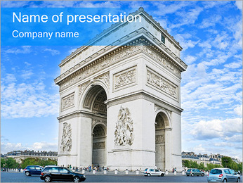 Triumph Arch Sightseeing PowerPoint Template