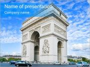 Triumph Arch Sightseeing PowerPoint Templates