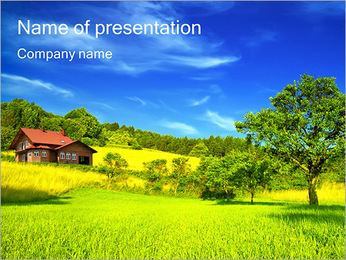 Countryside House PowerPoint Template