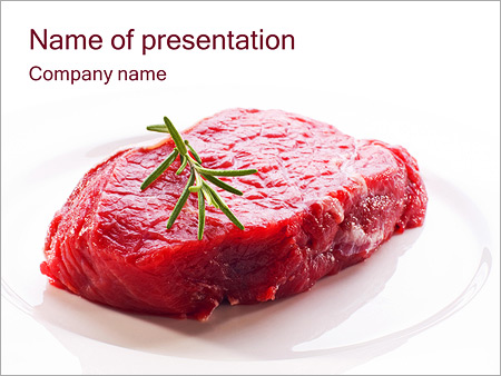 Meat powerpoint template smiletemplates meat with rosemary powerpoint template toneelgroepblik Choice Image