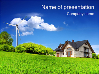 Eco Summer Cottage PowerPoint Template