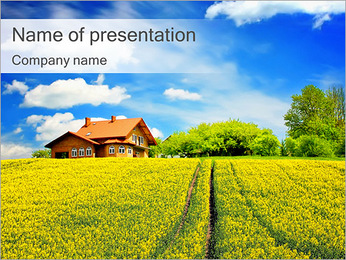 Perfect Countryside House PowerPoint Template