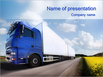 Transporting Goods By Truck PowerPoint Template