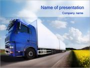 Transporting Goods By Truck PowerPoint Templates