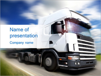 Driving By Truck PowerPoint Template