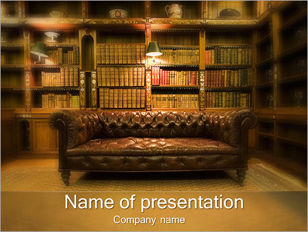 Library powerpoint template smiletemplates classical private library powerpoint template toneelgroepblik Choice Image