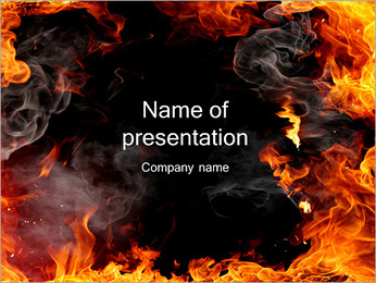 Flames Of Fire PowerPoint Template