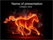 Horse Fire PowerPoint Templates