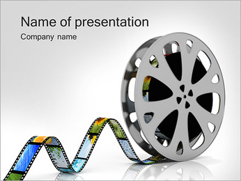 Photo Film Stripe PowerPoint Template