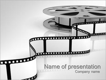 透明なフィルムストライプ PowerPointプレゼンテーションのテンプレート