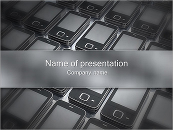 Modern Cell Phones PowerPoint Template