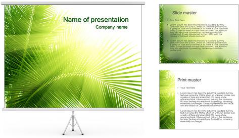 Coconut Tree Modèles des présentations  PowerPoint