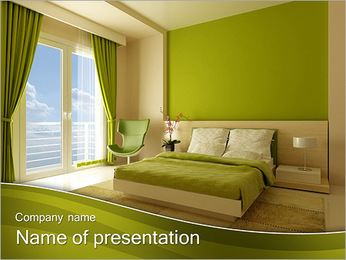 Green Room Design PowerPoint Template