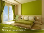 Green Room Design PowerPoint Templates