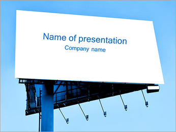 Clear Big Board PowerPoint Template