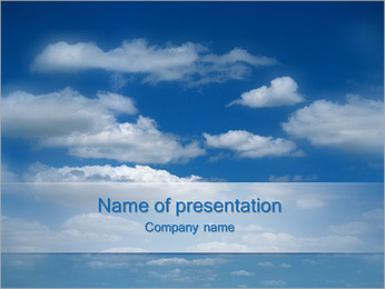 Endless Blue Sky PowerPoint Template
