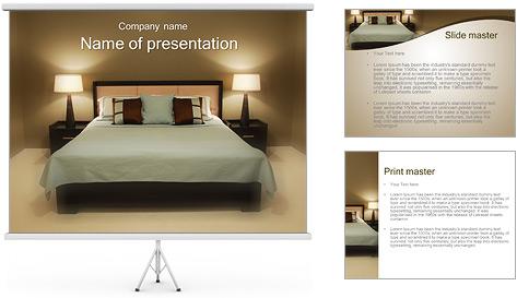 elegant bedroom design powerpoint template - Bedroom Design Template