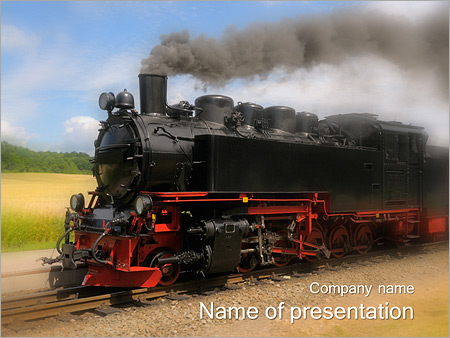 Retro train powerpoint template backgrounds id 0000003606 retro train powerpoint templates toneelgroepblik Images