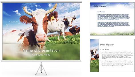 Ferme de vache Modèles des présentations  PowerPoint