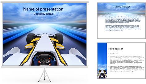 Formule Un Modèles des présentations  PowerPoint