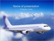 飛行機で速い旅行 PowerPointプレゼンテーションのテンプレート