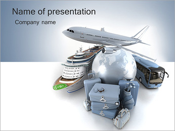 Ways Of Travelling PowerPoint Template