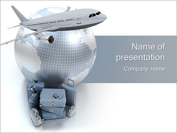 International Travelling By Plane PowerPoint Template - Slide 1