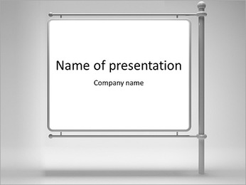 Blank Ads Big Board PowerPoint Template