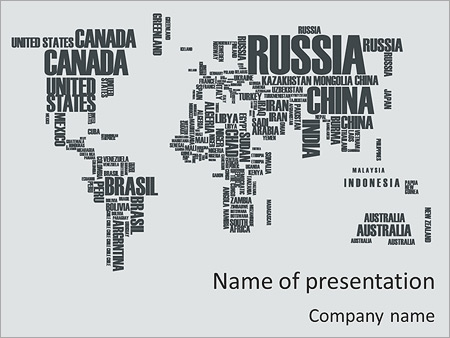 typed world map powerpoint template backgrounds google slides