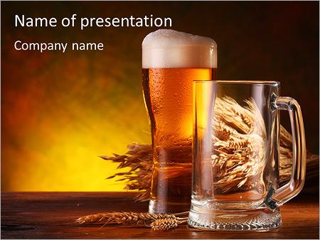Food drink powerpoint templates backgrounds google slides taste of beer powerpoint template toneelgroepblik Choice Image